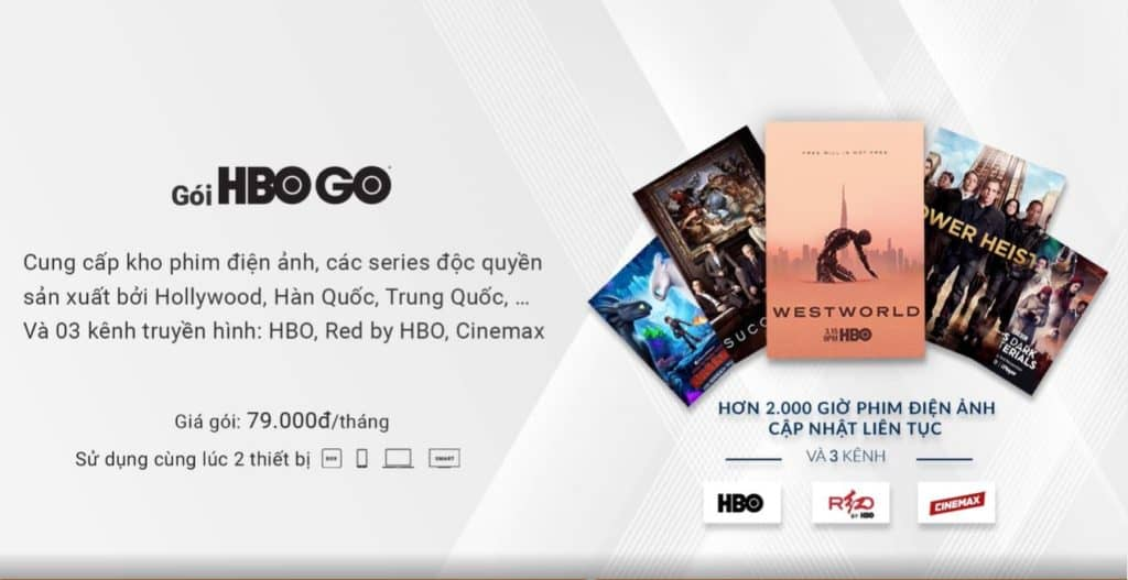 GÓI KÊNH HBO