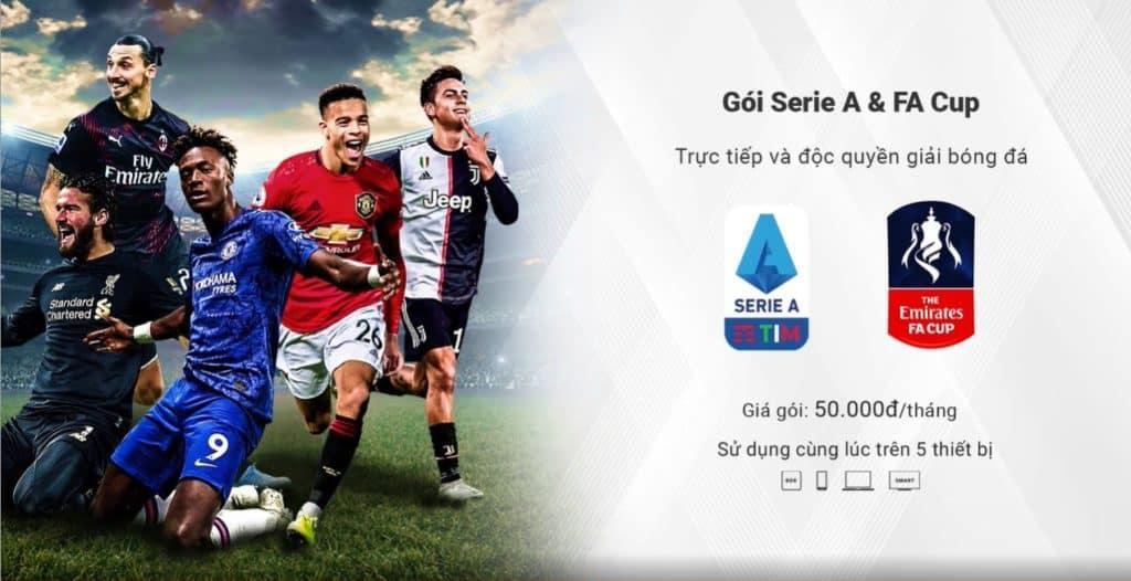 GÓI SERIE A & FA CUP