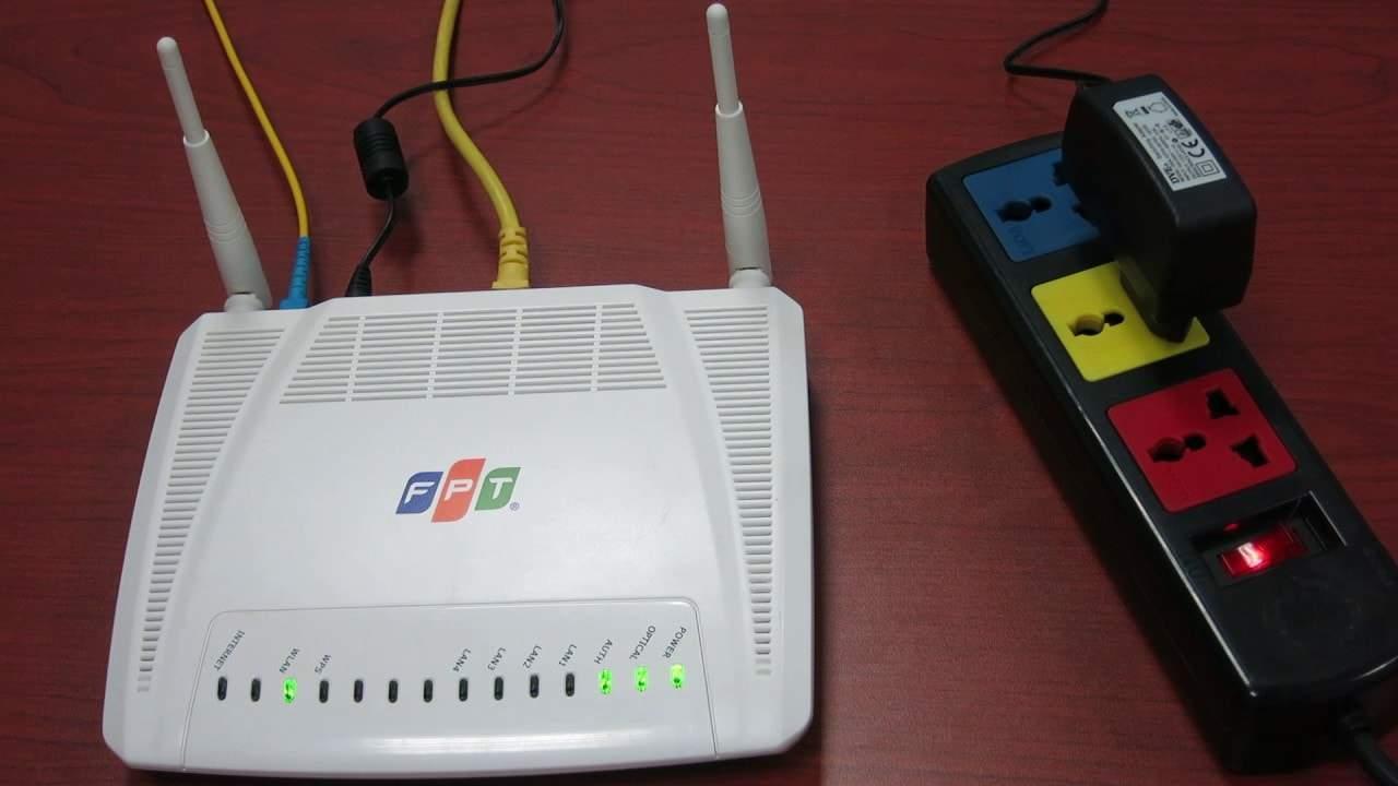 đèn tín hiệu trên modem wifi FPT