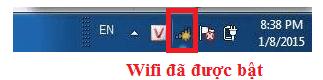 Kiểm tra laptop đã bật wifi hay chưa
