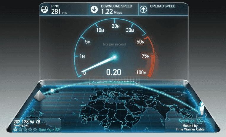 test tốc độ mạng