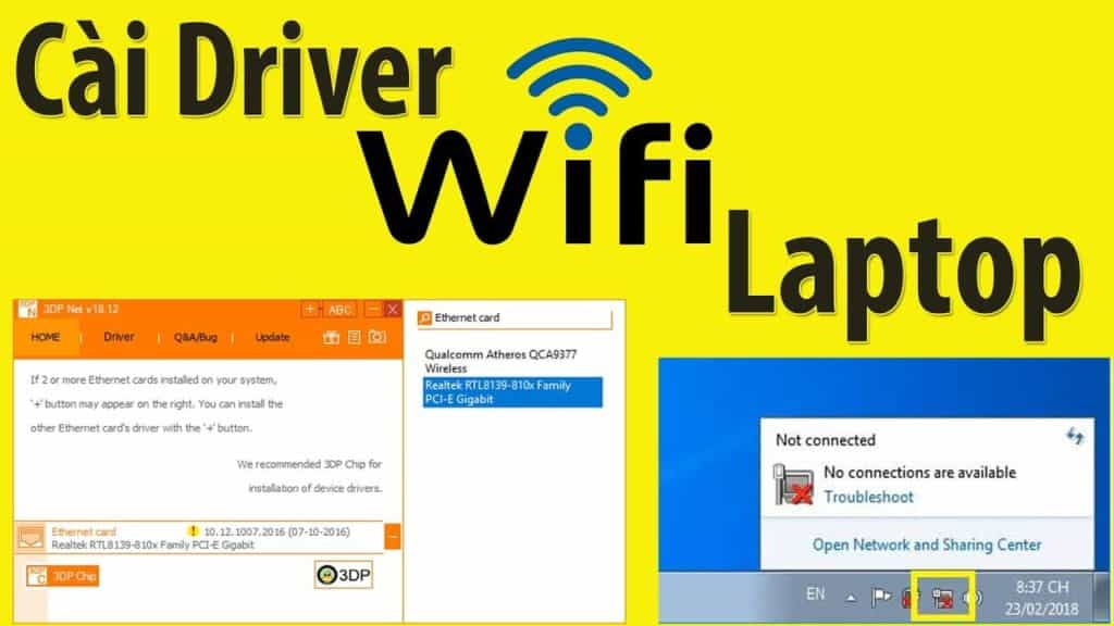 Hướng dẫn cài driver wifi cho máy tính laptop