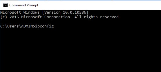 Giao diện Command prompt
