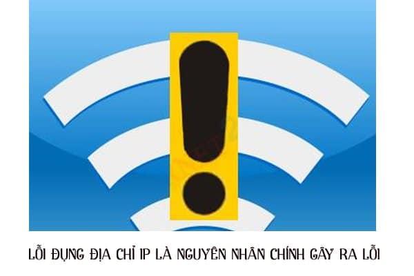 lỗi wifi chấm than vàng
