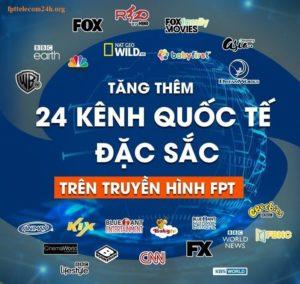 truyền hình fpt thêm 8 kênh mới